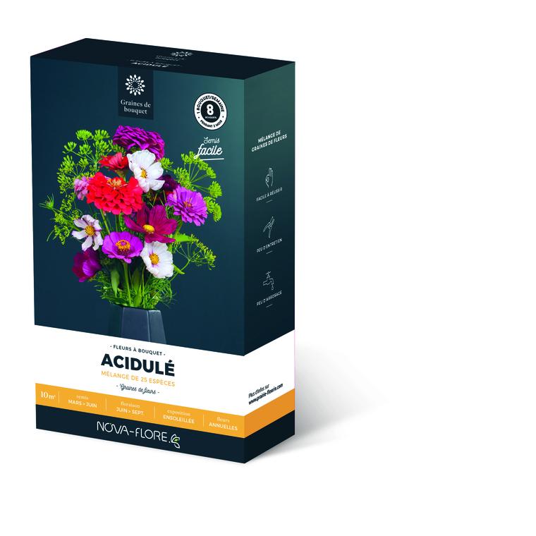 Semences pour fleurs de bouquet acidulé – 10 m2