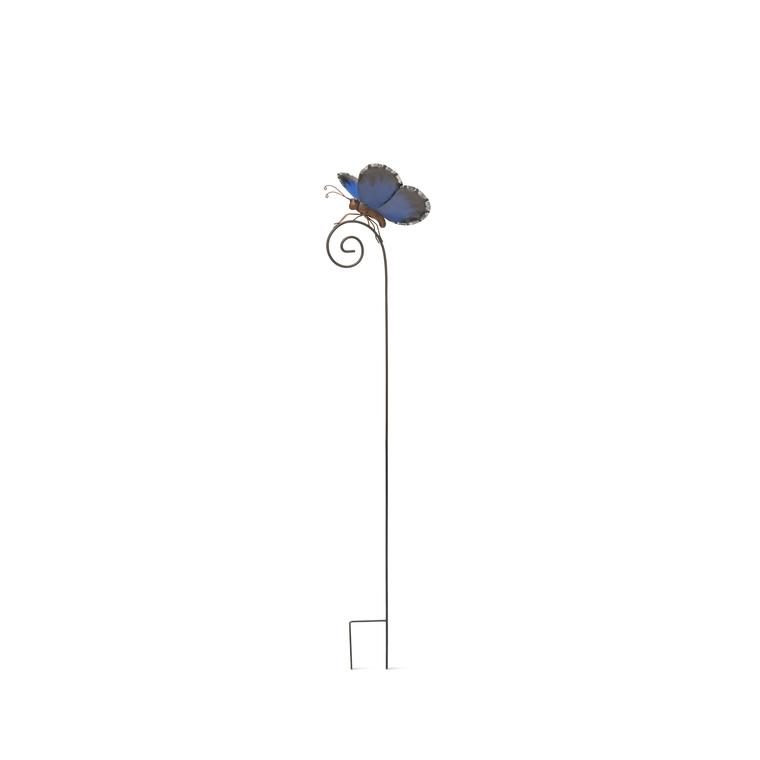 Pic métal Papillon  Bleu
