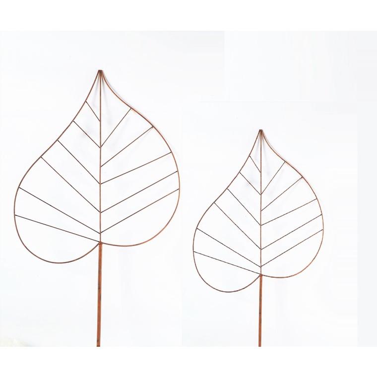 Set de 2 feuilles sur tige