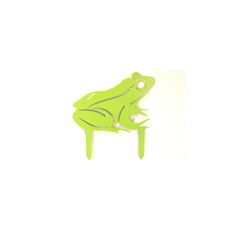 Grenouille à planter vert anis