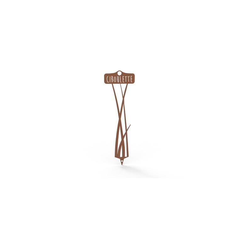Étiquette Ciboulette 22,3 cm