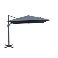 Parasol déporté orientable gris 3x3m