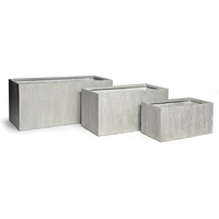Bac rectangle LIA S/3 gris de 54 Litres