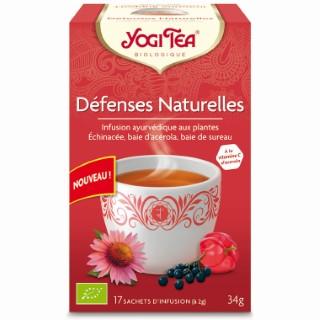 Infusion Yogi Tea Défenses naturelles en boite de 17 sachets 300943