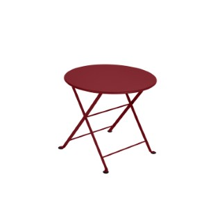 Table basse en acier couleur Piment
