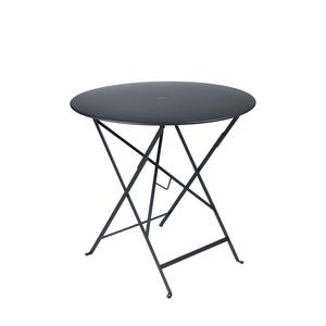 Table pliante ronde couleur Carbone 77 x h 74 cm 301033