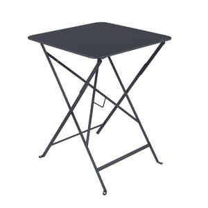 Table pliante carrée couleur carbone 57 x 57 x 74 cm 301034