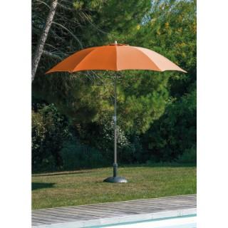Parasol droit taupe et orange, D 2,7 m