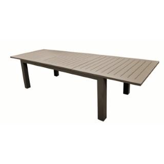 Table Caméline à rallonges couleur Café 175/234 x 100 x 74 cm