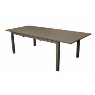 Table à rallonges Caméline couleur Café 200/280x102cm 302831