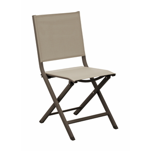 Chaise de jardin Max couleur café / beige
