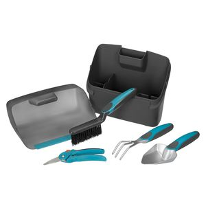 Kit de jardinage pour balcon avec mini outils et boite de rangement