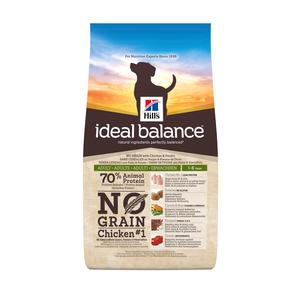 Croquettes canine adulte idéal balance sans céréales au poulet 800 g 310054