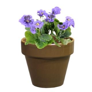 Pot horticole en terre cuite émaillée Taupe – D14 x H12 310653