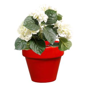 Pot horticole en terre cuite émaillée Rouge – D19 x H17
