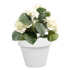 Pot horticole en terre cuite émaillée Blanc – D19 x H17 310770