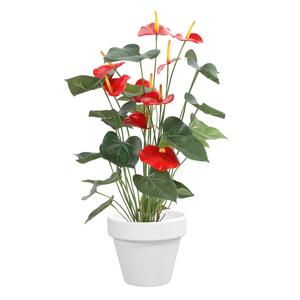 Pot horticole en terre cuite émaillée Blanc – D25 x H23