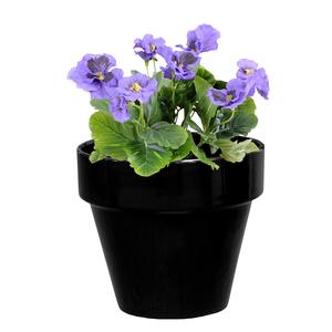 Pot horticole en terre cuite émaillée Noir – D14 x H12 310800