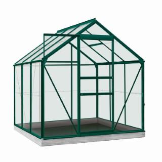 Serre Poly 3,8 m² en aluminium vert