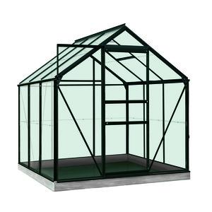 Serre Verre 3,8 m² en aluminium noir