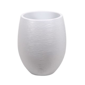 Pot Egg Graphit blanc cérusé - D.50 x H60