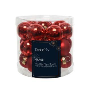 Boite de 24 mini-boules en verre brill-mat