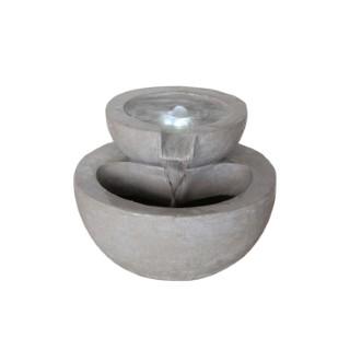 Fontaine avec deux vasques pierre en polyrésine – 89 cm de haut