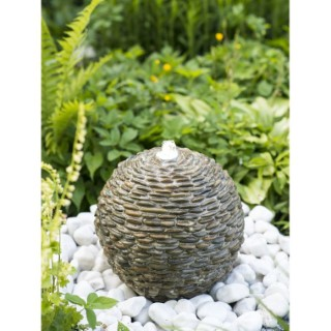 Fontaine de bassin boule lumineuse en pierre 316934