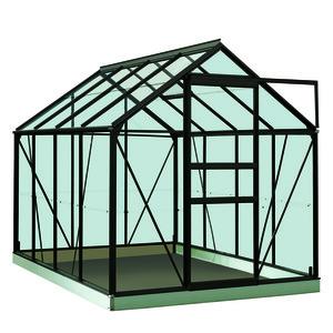 Serre Verre 5 m² en aluminium noir 321284