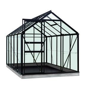 Serre verre 6,2 m² en aluminium noir 321335