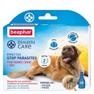 Pipettes pour grand chien DiméthiCARE 6 x 4,5 ml 321777