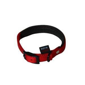 Collier chien 55cm rouge confort 25mm 323949