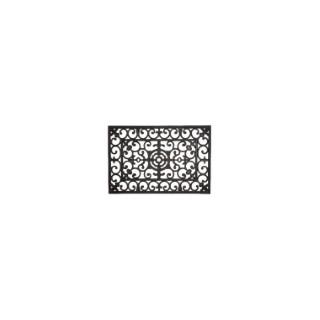 Paillasson d'extérieur Forge noir en caoutchouc - 90 x 60 cm