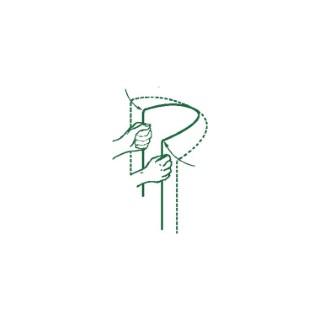 Tuteur croissant en acier, coloris vert 90cm 331218