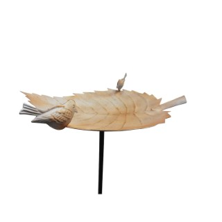 Bassin à oiseaux Ginko noir et beige – 125 cm de haut 332591