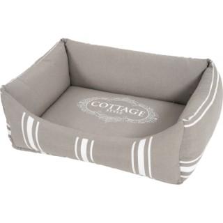 Sofa pour chien cottage L. 65 x l. 48 x H. 24 cm 334381