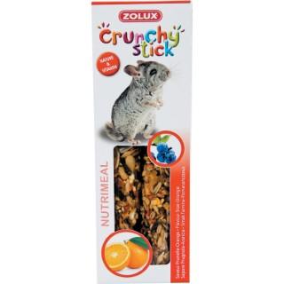 Lot de 2 crunchy stick pour rongeurs goût prunelle et orange 115 g 334531