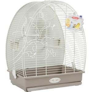 Cage à oiseaux arabesque alice grise L. 41 x l. 30 x H. 49.5 cm 334538