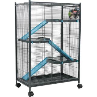 Cage pour rongeurs max loft indoor bleu L. 72 x l. 43 x H. 107 cm 334559
