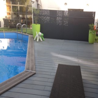 Pack complet terrasse composite anthracite 15 m2