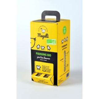 Boîte mangeoire Bio pour poussins Magalli 1,5 kg 334802