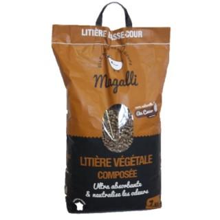 Litière végétale ultra absorbante en sac marron de 7 kg 335223