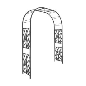 Arche Premium tôle avec décor végétal gris ardoise