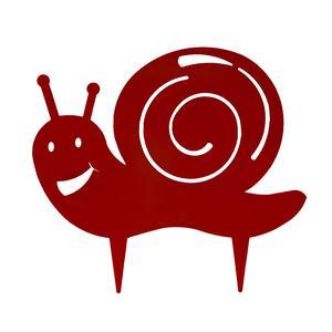 Figurine à piquer escargot rouge