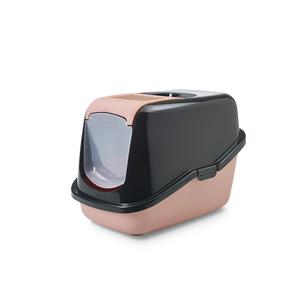 Maison de toilette Nestor retro noir rose