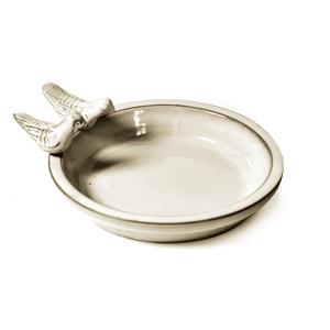 Bain d'oiseau rond blanc