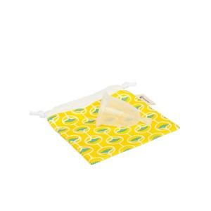 Cup féminine menstruelle avec pochon jaune taille 2 341041