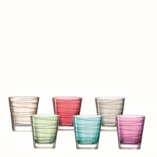 Set de 6 verres Vario coloris assortis 28 cl
