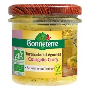 Tartinade à la courgette et au curry Bonneterre bio 135 g 343277