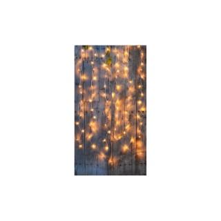 Rideau lumineux extérieur animé Blanc chaud à LED solaire 2x2 m 344878